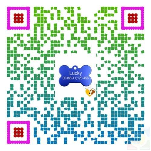gravirani obeski za pse qr koda